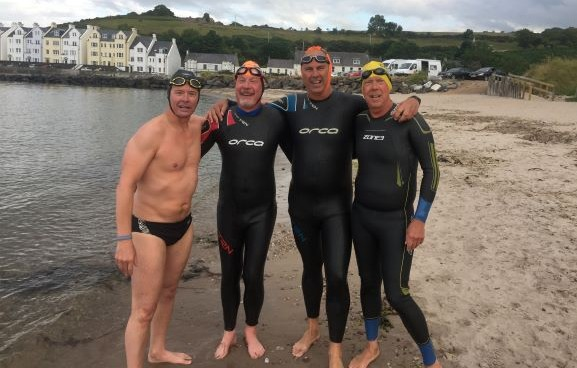 Fastest one-way crossing of the North Channel via the Dal Riata channel in wetsuit relay (ILDSA)