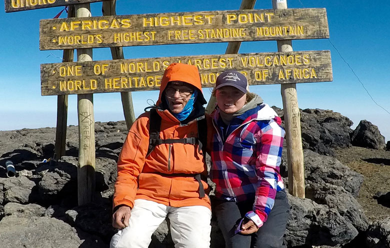 Oldest person to climb Mount Kilimanjaro (male)