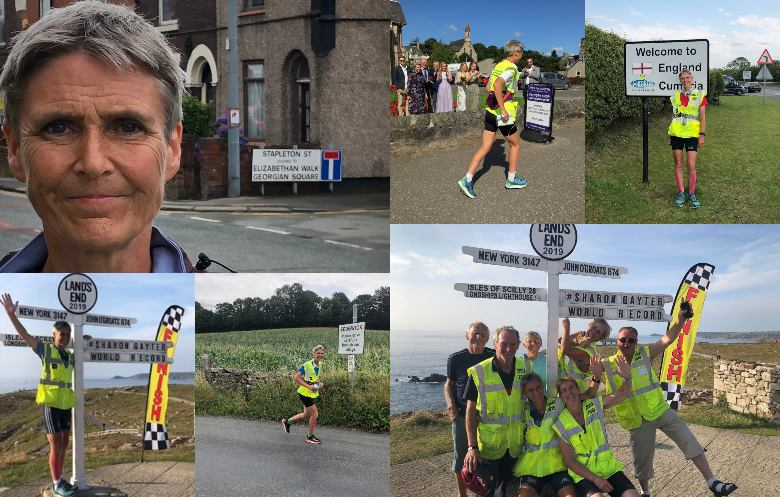 Fastest journey from Land's End to John-O'-Groats on foot (female)