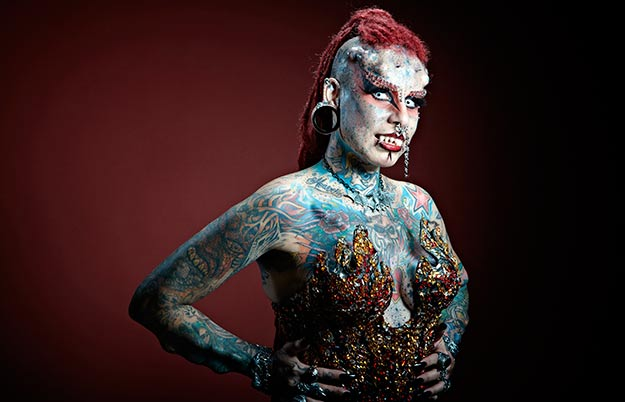 Most body modifications (female)
