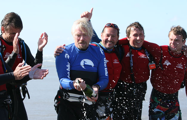 Oldest person to kiteboard the English Channel