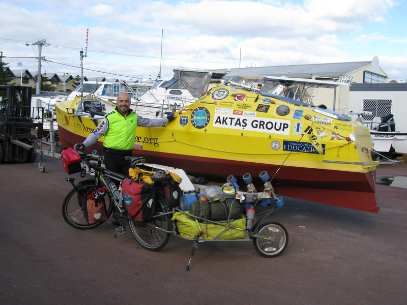 First solo circumnavigation of the globe using human power