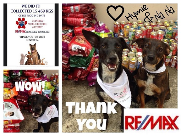 Largest donation of pet food in one week