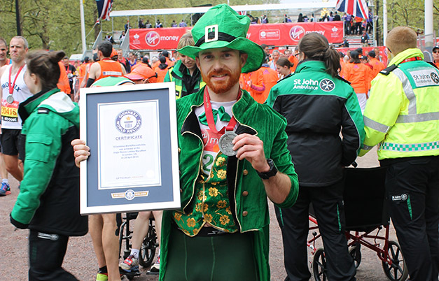 Fastest marathon dressed as a leprechaun