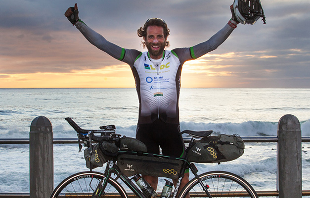 Fastest bicycle journey from Cairo to Cape Town (male)