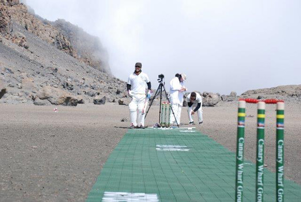 Highest-altitude cricket match
