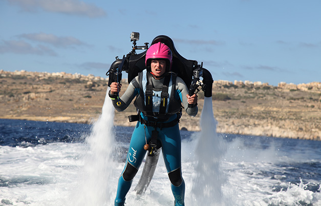 Longest journey by water jet pack
