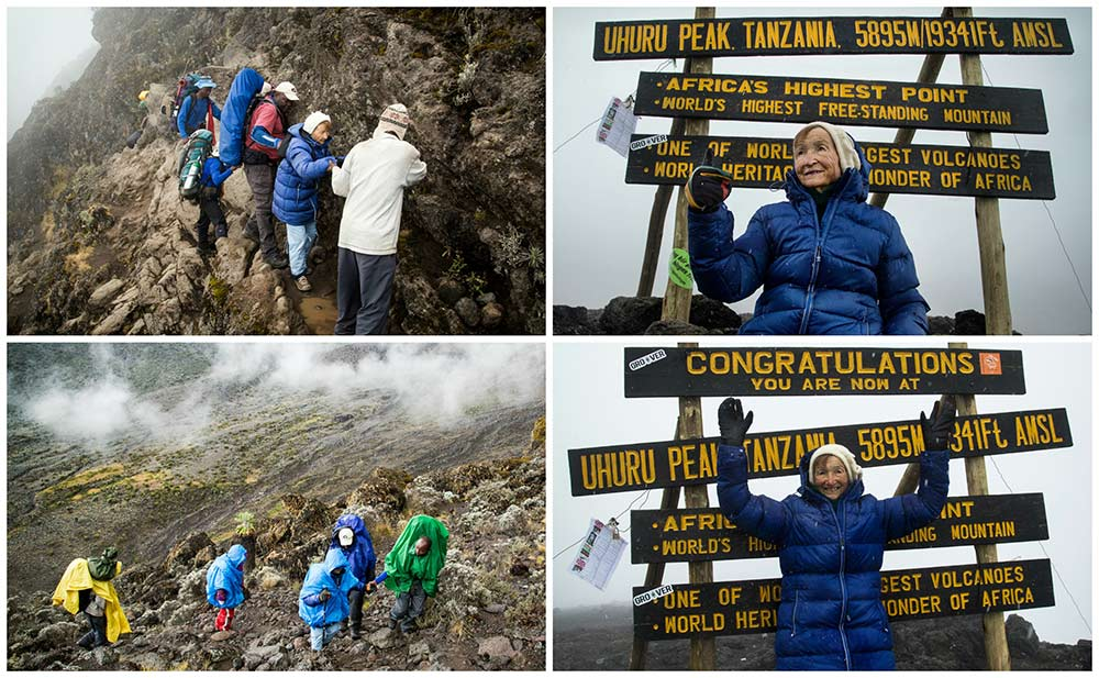 Oldest person to climb Mount Kilimanjaro (female)