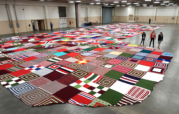 Largest knitted/crocheted stocking