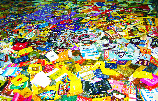 Largest collection of candy wrappers