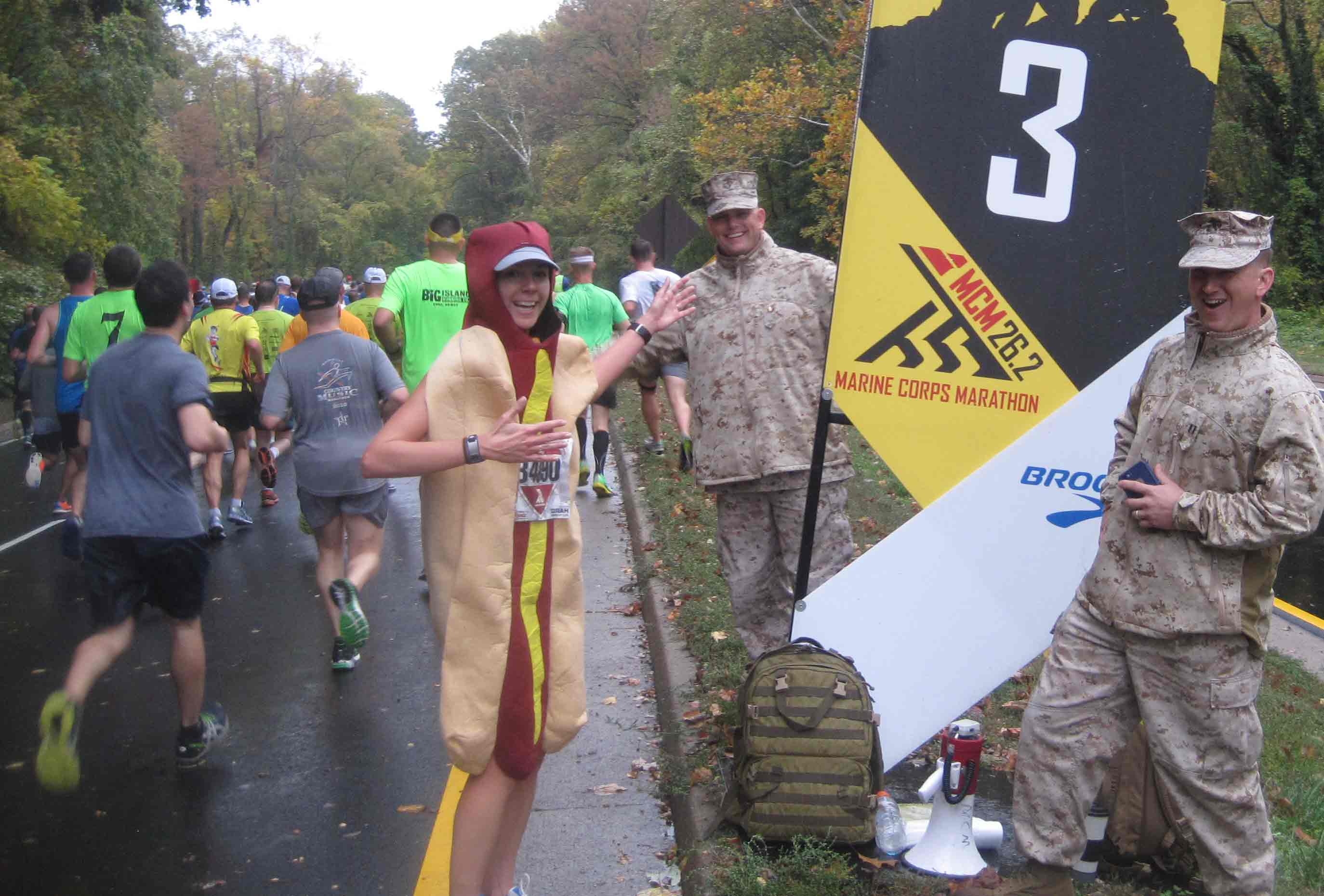 Fastest marathon dressed as a fast food item (female)