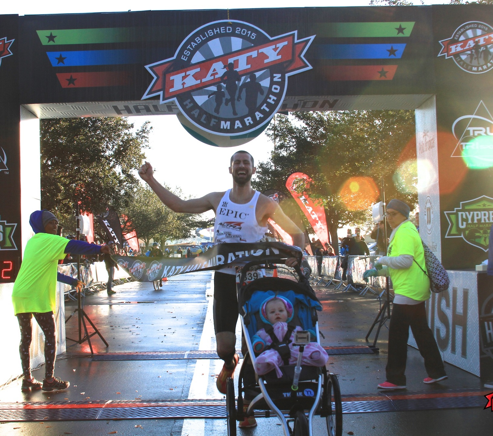 Fastest half marathon pushing a pram (male)