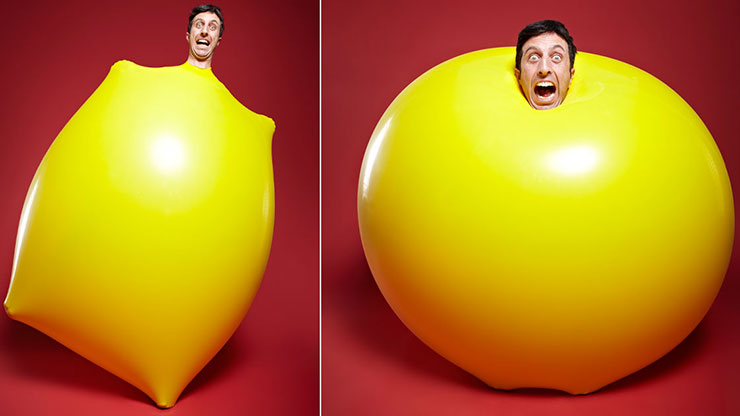 Most giant balloons entered into and burst in two minutes